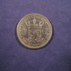 The Netherlands – 1 guilder 1910 Wilhelmina – Silver