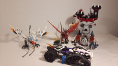 Castle / Ninjago - 7093 + 2263 + 2260 - Skeleton Tower + Turbo Shredder + Ice Dragon Attack