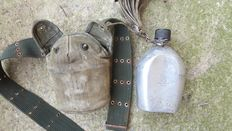 WW2 US Army Water Bottle With Belt 1945