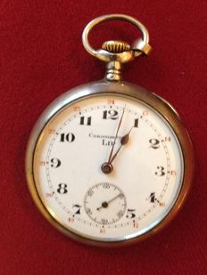 "Silver LIP brand pocket watch - ""No reserve price"""