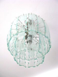 Unknown design - Italian Frosted Glass Chandelier