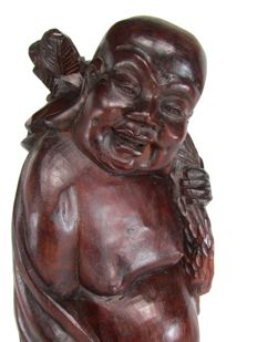Rosewood statue – Buddha figure – China – First half of the 20th century.