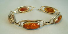 Art Deco bracelet with natural amber from 1935/1940, 14.5 g