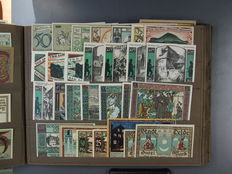 Germany - 224, mostly varying emergency money notes, collection II