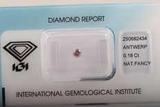 Natural Fancy Pink Diamond 0.18 ct  with IGI cert ***No minimum price***