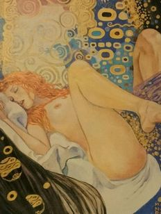Graphic arts – Milo Manara – Klimt, painter and model – late 20th Century
