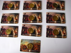 Belgium - 2½ Euro 2015 '200 Years Battle of Waterloo' (10 pieces) in Coincards
