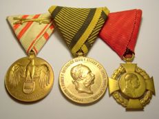 WW1 Austrian Set of Three Original Medals
