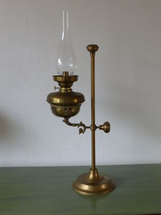 Large copper oil lamp
