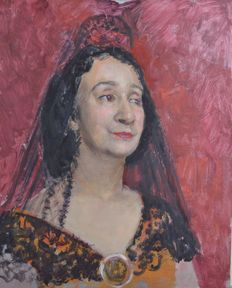 From the estate of Bernard Hailstone (1910-1987) - Portrait of a Spanish lady