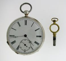 Vacheron Geneve pocket watch with key Swiss 1880