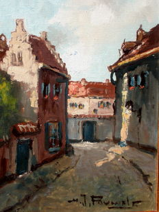 Henry Joseph Pauwels. (1903-1983)-. Beguinage.
