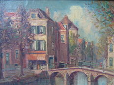 Unknown (20th century) cityscape the Hague, North end of Hogewal, Netherlands