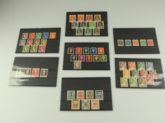 """Curaçao and Netherlands Antilles - batch of complete series, including high values """"En face"""""""