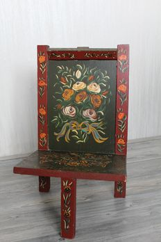 Beautiful hand painted Hindeloopen child's chair -Netherlands-early 20th century
