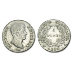 France - Napoleon I - 1 Franc, 1806, Mint of Paris - Silver
