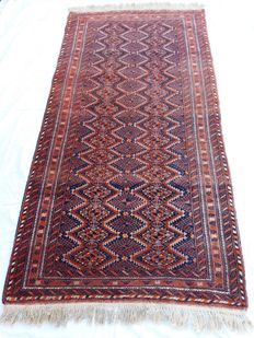 Gorgeous Beluch Afghan carpet – 190 × 97 cm – 1970s – Like new!!! Starting from €1 – No reserve price!!!
