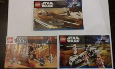 Star Wars - 7959 + 9491 + 7913 - Geonosian Starfighter + Geonosian Cannon + Clone Trooper Battle Pack