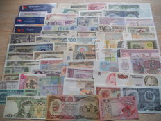 World - over 120 banknotes