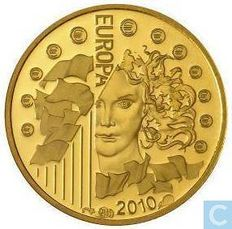 France - 5 Euro 'Abbey of Cluny' 2010 - Gold