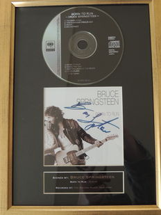 Bruce Springsteen - Born To Run  - Signed (print) Autograph Cd Cover  -