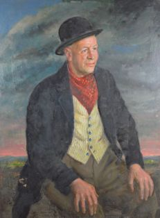 From the estate of Bernard Hailstone (1910-1987) - Portrait of Arthur Woolridge of Beech Farm