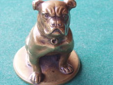 Bronze sculpture in the shape of a bulldog / boxer - Viennese bronze - marked