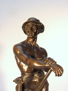 Charles Octave Lévy (1820-1899) - bronze sculpture 'Minor' - end of the 19th century