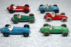 Dinky Toys/Crescent Toy - Scale 1/38 - Lot with 6 Racing cars