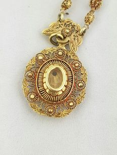 Old 14 kt gold Philippine necklace