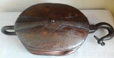 Large antique pulley/lifting block - Netherlands Amsterdam - first half 20th century