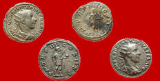 Roman Empire - Gordian III (238-244 A.D.) couple of silver antoninianus (3,47 g. and 5,99 g.- 22 mm.), Rome mint, A.D. 241-242. PM TR P IIII COS II PP. (2)