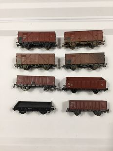Roco/Piko H0 - 8 Dutch Freight carriages / open carriages