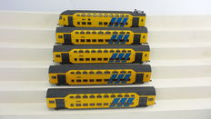 "Lima H0 - 149723K – 5-piece  passenger train unit DDM Double-decker Intercity ""Panda"" of the NS"