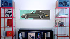 Painting on plexiglass - Porsche 930 Turbo 3.0