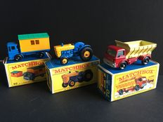 Lesney Matchbox - Misc. scales - Ford Tractor No.39, Truck with Site Office No.60 and Grit Spreading Truck No.70