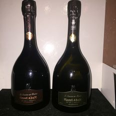 Champagne le Sourire de Reims Champagne Abele – Rose 2006 x 1  & blanc de blancs 2007 x1 – lot of  2 bottles