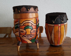 lot of 2 african drums