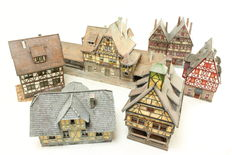Vollmer H0 - 6 different types of weathered buildings