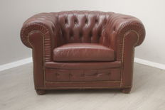 Fabrikant onbekend - vintage Chesterfield clubfauteuil