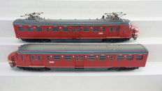 "Trix Express H0 - 2283 - Electric 2-piece passenger train unit Mat'54 1st/2nd class Plan-M ""Hondekop"" of the NS"
