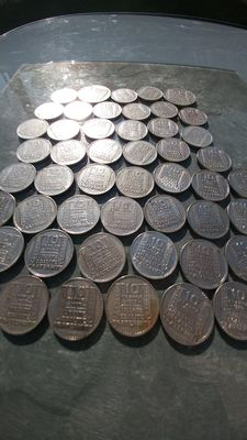 France – 10 & 20 Francs 'Turin' 1929/1934 – Lot de 50 coins – Silver
