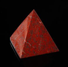 Red Jasper Pyramid - 60 x 60 x 70mm - 224gm