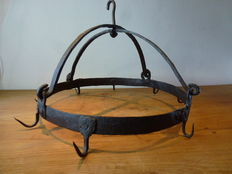 Wrought iron game rack - approx. 1870