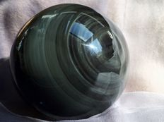 """Heavenly Eye"" Obsidian sphere 2 sided Eye - 12 cm - 1610 g"