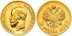 RussiaRussia – 10 Roubles 1902 АР – gold