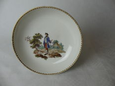 Porcelain manufacture Zurich - saucer with cavalier
