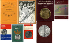 Literature - set of various books and catalogues on coins and medals (8 pieces)