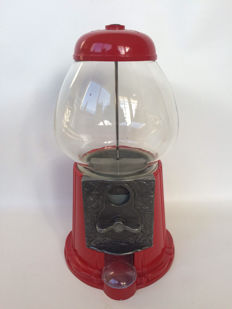 Red chewing gum ball dispenser - second half 20th century
