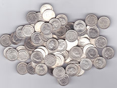 The Netherlands – 10 cents, until 1944, Wilhelmina (100 pieces) – silver.